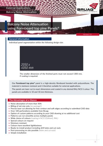 1_6 Exterior Applications - Balcony Noise Attenuation