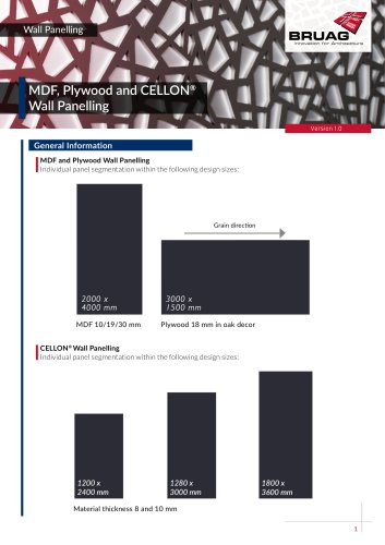 2_2 Interior Applications - Wall Panelling Technical Sheet
