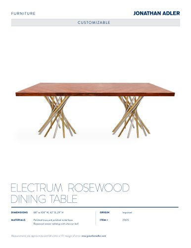 ELECTRUM DINING TABLE, ROSEWOOD
