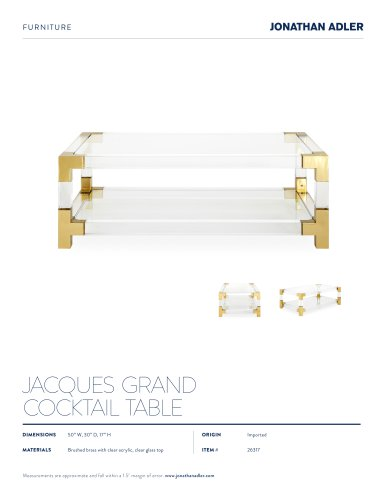 JACQUES GRAND COCKTAIL TABLE
