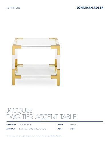 JACQUES TWO-TIER ACCENT TABLE