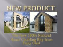 NEW PRODUCT Stone cladding slip from Eazy Clad - 1