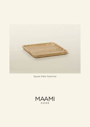 Square Plate Travertine factsheet