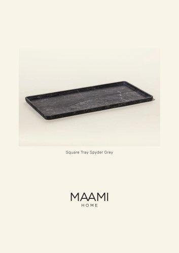 Square Tray Spyder Grey factsheet