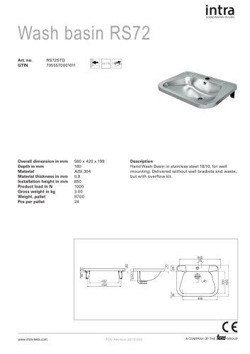 Wash basin RS72