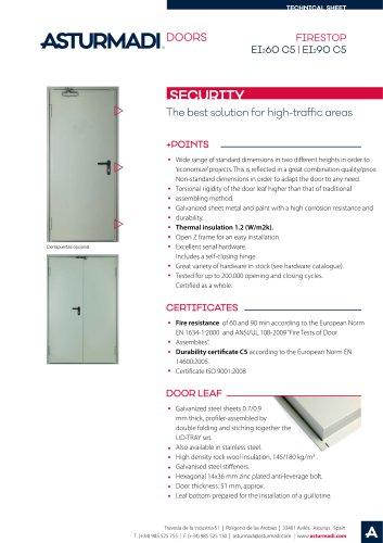 FIRESTOP EI2 60 C5 | EI2 90 C5 SECURITY