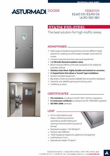 FIRESTOP EI2 60 C5 | EI2 90 C5 | UL90-120-180 STAINLESS-STEEL