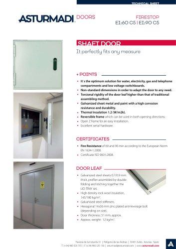 FIRESTOP EI260 C5 | EI290 C5 SHAFT DOOR