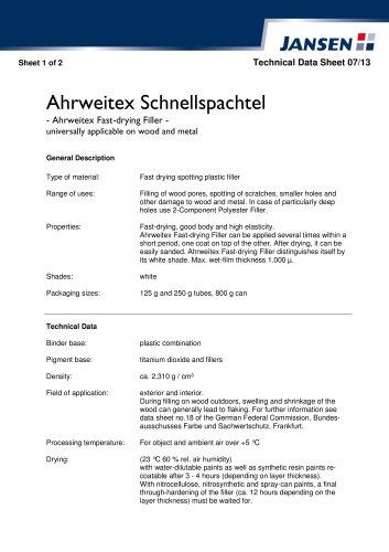 Ahrweitex Fast-drying Filler