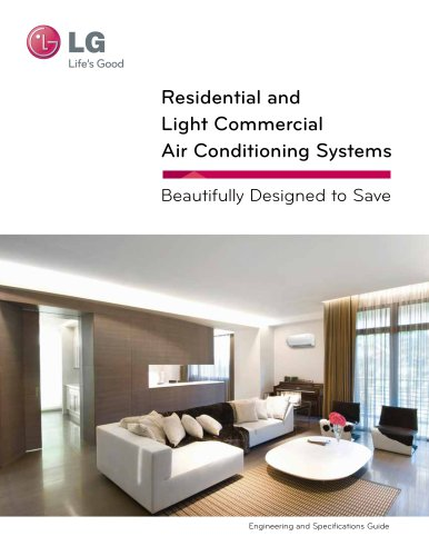 Residential And Light Commercial Air Conditioning Systems Lg Hvac Pdf Catalogs Documentation Brochures