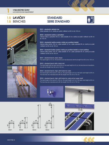 Benches – Standard