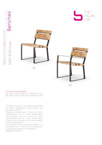 EASY EVO chair Benches