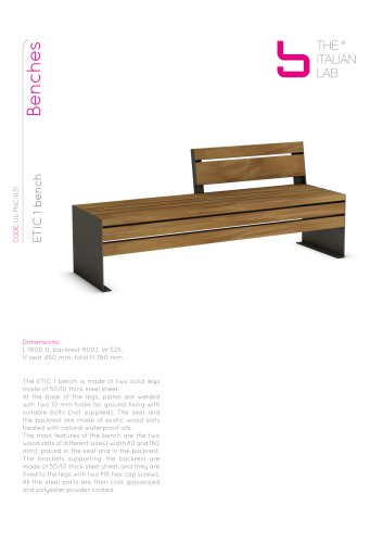 ETIC 1 bench Benches