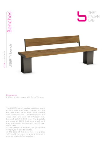 LIBERTY bench Benches