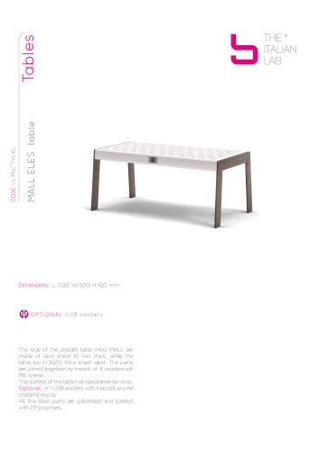 MALL ELES table Tables