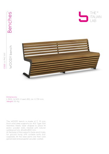WOODY bench Benches