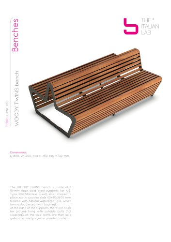 WOODY TWINS bench Benches