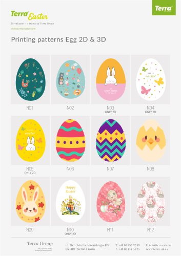 Printing patterns Egg 2D and 3D