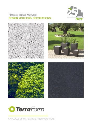 TerraForm Catalogue of the planters finishing options