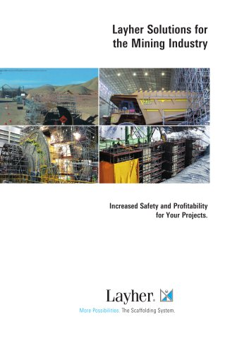 Layher Solutions for the Mining Industry