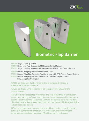 FB1000 Series - ZKTeco - PDF Catalogs | Documentation