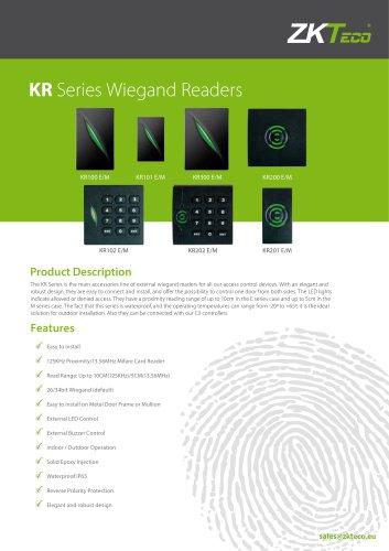 KR Series Wiegand Readers - ZKTeco - PDF Catalogs