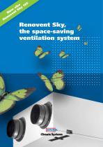 Renovent Sky 300 en 150. The space-saving ventilation system