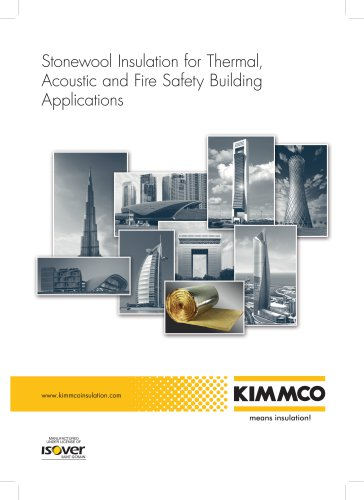 Stonewool Insulation for Thermal, Acoustic and Fire Safety Building Applications