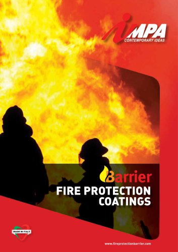 Barrier fire protection coatings
