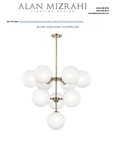 JR1980 ASHLEIGH CHANDELIER
