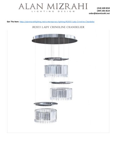 JR2033 LADY CRINOLINE CHANDELIER