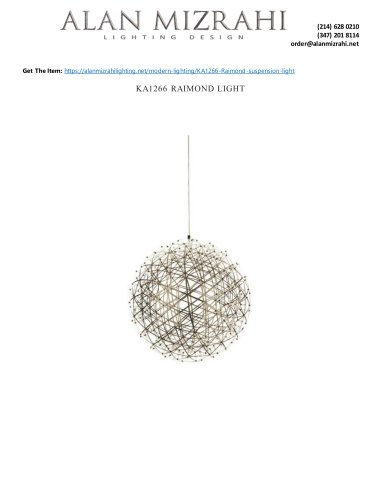 KA1266 RAIMOND LIGHT