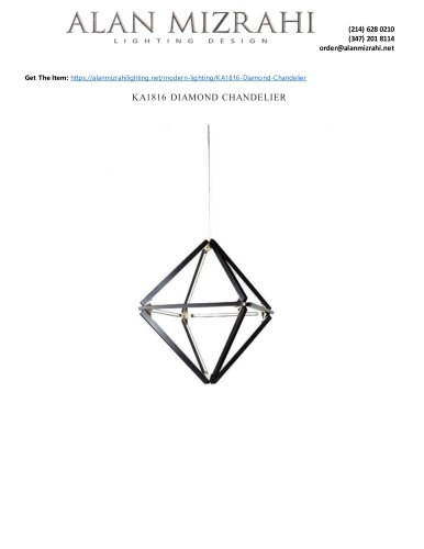 KA1816 DIAMOND CHANDELIER