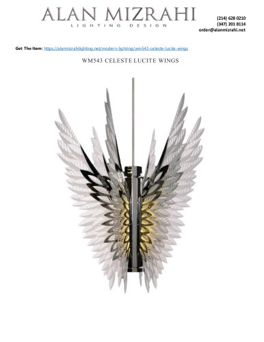 WM543 CELESTE LUCITE WINGS