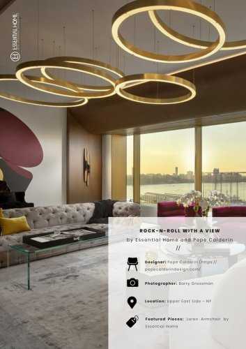 Rock-n-Roll with a view by Essential Home and Pepe Calderin