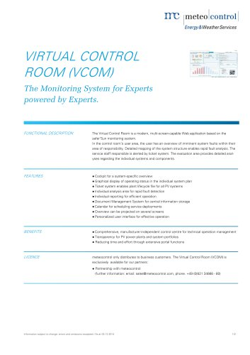 VIRTUAL CONTROL ROOM (VCOM)