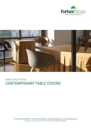 CONTEMPORARY TABLE COVERS