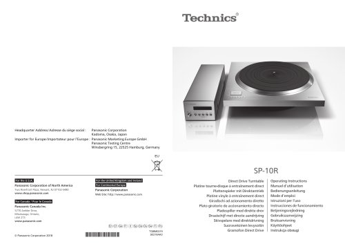 SP-10R / Direct Drive Turntable