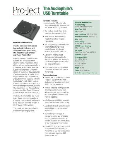 Debut III™ / Phono USB