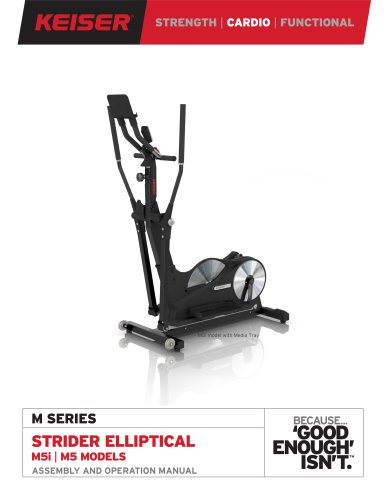 M SERIES STRIDER ELLIPTICAL M5i | M5 MODELS