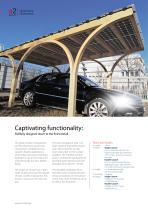 Solar timber carport - 3
