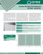 Cement Bonded Particleboard CETRIS® AKUSTIC