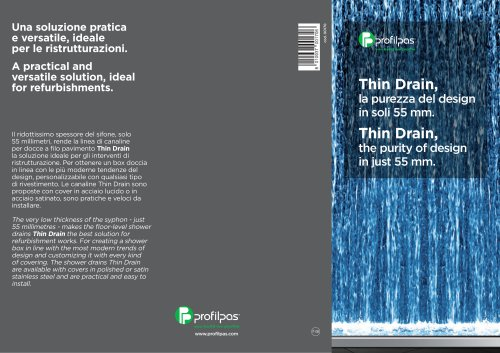 Thin Drain The Purity Of Design In Just 55 Mm Profilpas Pdf