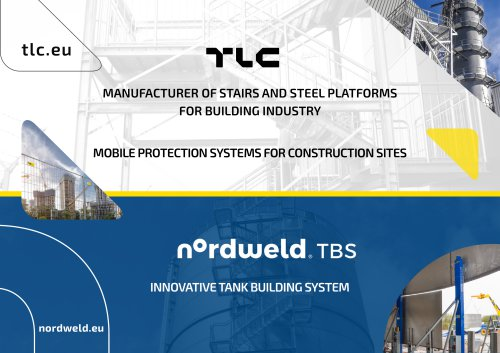 MANUFACTURER OF STAIRS AND STEEL PLATFORMS FOR BUILDING INDUSTRY MOBILE PROTECTION SYSTEMS FOR CONSTRUCTION SITES