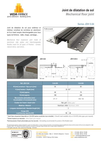 Joint De Dilatation Etanche Gv2 Veda France Pdf Catalogs Documentation Brochures