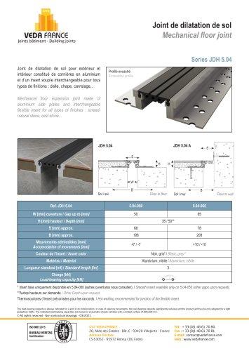 Mechanical floor joint - JDH 5.04