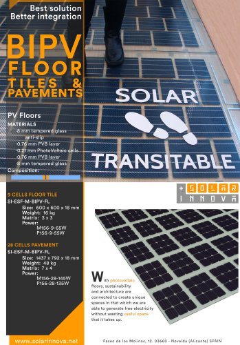 BIPV-Solar Photovoltaic Floor Tiles