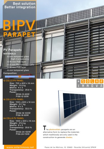 BIPV-Solar Photovoltaic Parapets