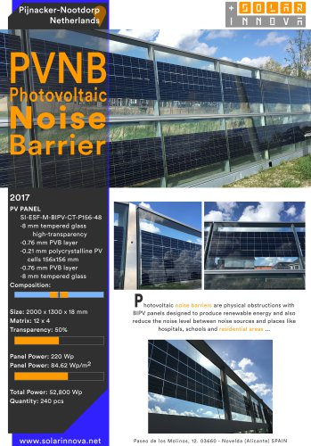 PVNB-Photovoltaic Noise Barrier-Netherlands