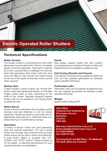 Electric Operated Roller Shutters